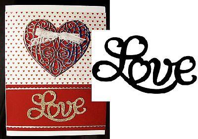 Love Metal Die Cut Serendipity Cutting Dies Valentine's Words Phrases 011DD