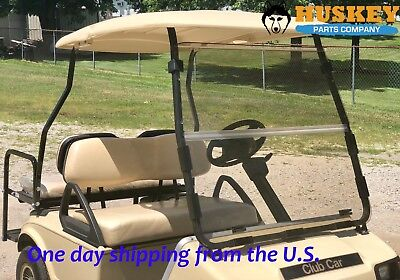 Club Car Golf Cart Windshield Fits DS Models from Year 2000.5 Up, Clear Foldable