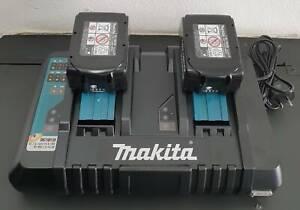 Makita 18V Li-Ion Cordless Dual Port Charger DC18RD & 5.0Ah Batteries Toukley Wyong Area Preview
