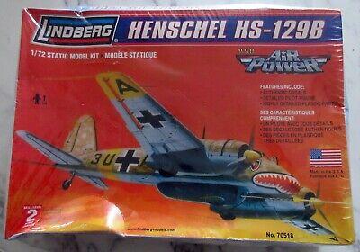 Lindberg no. 70518 - Henschel HS-129B - 1/72 Scale