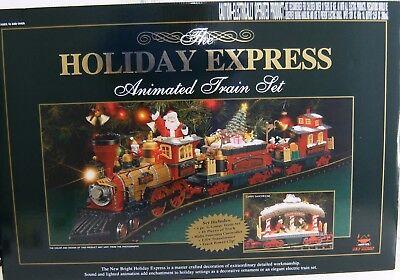 New Bright 384 Holiday Express Christmas Electric Animated Train Set G NBRU0380