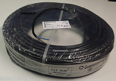 100 metros,Manguera Negra Flexible 2 x 1.0mm2 GENERAL CABLE, electrico 1500w