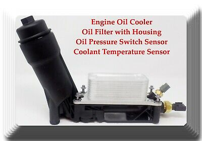 Kit of Engine Oil Cooler+Oil Filter W/Housing+Oil Pressure & Temperature Sensors