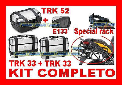 BMW R1200 GS 07-12 KIT 3 VALIGIE TRK33 TRK52 + TELAIO ALL SRA692 + PLR684 RAPIDO