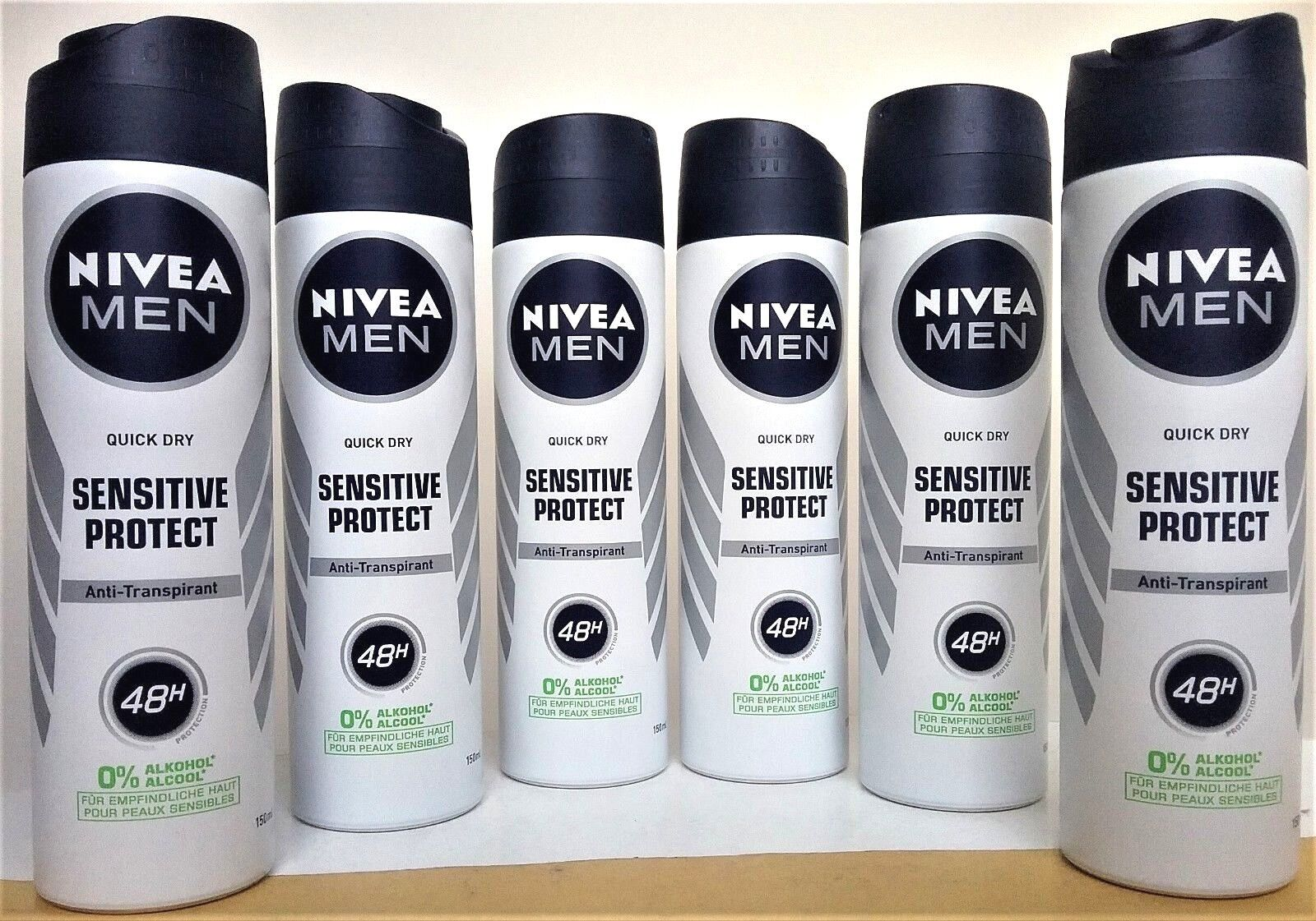 NIVEA MEN Anti-Transpirant SENSITIVE PROTECT Deo Spray  6 x150 ml