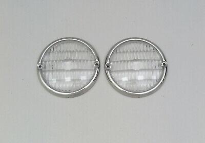 1957 1958 1959 1960 Dodge Sweptside Pickup Truck Marker Light Trim Ring & Lenses