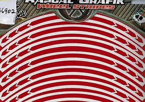 "17"" Wheel Stripe / Tape / Rim Stickers Rascal Reflective GLITTERY RED ra36902"