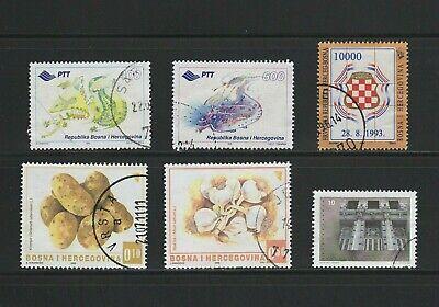 Bosnia & Herzegovina -- 6 diff used -- cv $21.95