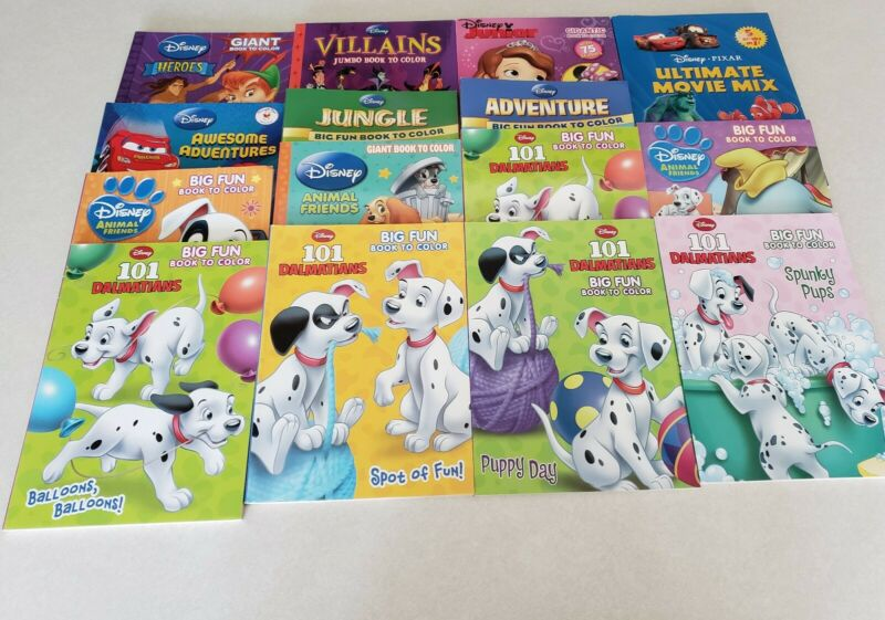 Lot of 15 Disney Coloring, Activity & Sticker Books. 101 Dalmatians & More