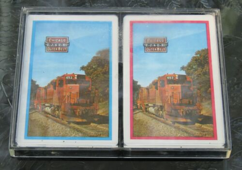 EJ&E Railway Elgin Joliet And Eastern Railway (2) Decks Of Playing Cards UNUSED