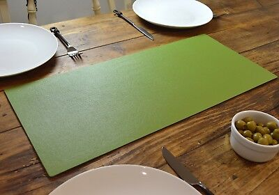 SAGE GREEN Bonded Leather TABLE RUNNER MAT Centerpiece MADE IN UK Home Decor