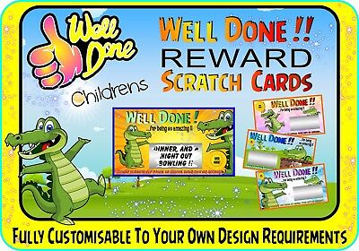 Fun Children's Reward Scratch Cards personalised gift scratchcards cards card