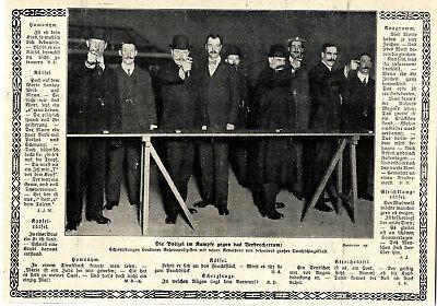Schießübungen Londoner Geheimpolizisten mit neuen Revolvern von 1912