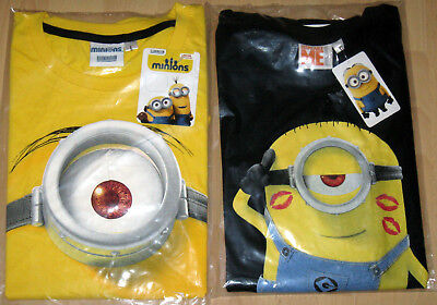 Minions Herren T-Shirt Gr. M, L, XL Gelb Schwarz Ladies Man Despicable Me