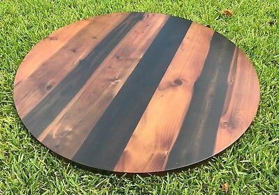 Rustic Reclaimed Handmade Round Wood Table Top 24 Bar Restaurant Farmhouse