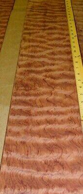 Waterfall Bubinga Quilted Wood Veneer 6 X 36 Raw No Backing Aaa 142 Thick