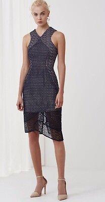NWT Keepsake Australian Fashion Label Easy Love Midi Lace Cocktail Dress Size S