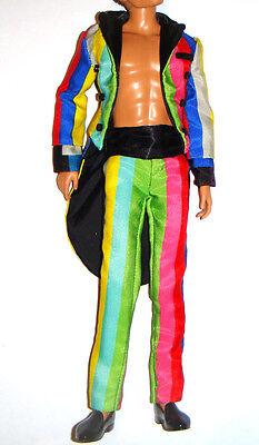 Ken Doll Fashion Multicolor striped Tuxedo For ModelMuse Ken Dolls mc4