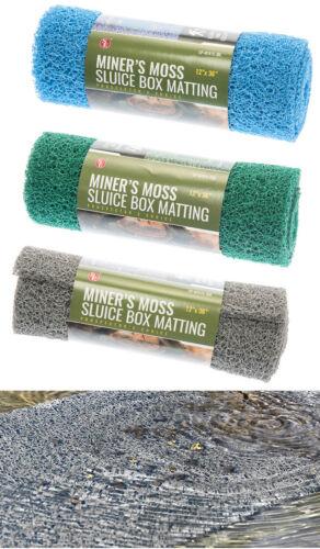 "3PC Miner's Moss 12"" x 36"" Sluice Box Matting 3 COLOR GREY GREEN BLUE"