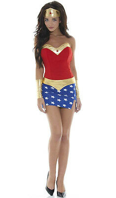 Sexy WONDER WOMAN Adult Womens Costume Justice League (M medium L large - Adult Wonder Woman