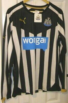 Newcastle Utd Puma Long Sleeve Home Shirt 2014/2015 Season.  Size Large.  BNWT