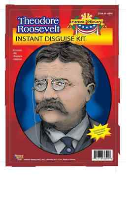 Theodore Roosevelt Costume Kit Teddy Wig Mustache President Night At Museum (Theodore Roosevelt Costume)