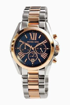 Michael Kors MK5606 Bradshaw Two Tone Blue Dial Wrist Watch for Women