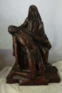 antike Heiligenfigur Gruppe Pieta