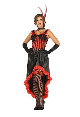 Costume Donna Can Can Costume Donna Burlesque Carnevale TG. 38/40