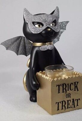 Yankee Candle Sophia the Cat Trick Or Treat Votive/Tea Light Holder RETIRED HTF