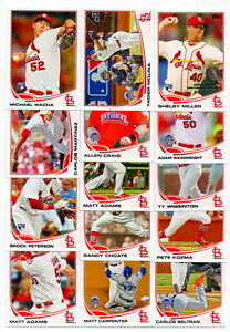 (14) ST. LOUIS CARDINALS 2013 TOPPS UPDATE TEAM SET michael wacha rc matt adams