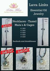 Essential Oil Jewellery Necklaces Range created by Lava-Links Mount Pleasant Melville Area Preview