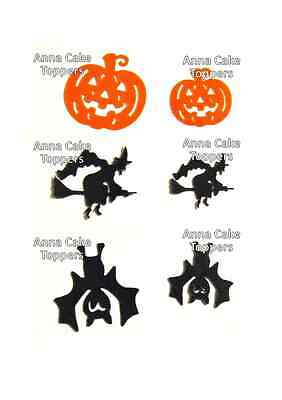Halloween Pumpkin, Witch, Bat PRE-CUT Cupcakes Toppers **BUY TWO GET ONE FREE**](Bat Halloween Cupcakes)