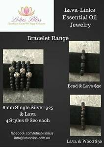 Essential Oil Jewellery Bracelets Range created by Lava-Links Mount Pleasant Melville Area Preview