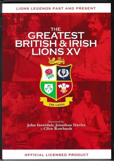 THE GREATEST BRITISH & IRISH LIONS XV NEW DVD LIONS LEGENDS PAST & PRESENT