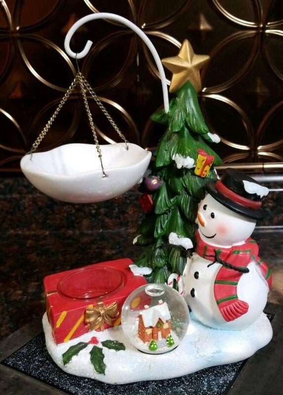 Yankee Candle Hanging Tart Warmer Snowman Tree Snowglobe RETIRED HOT ITEM HURRY!