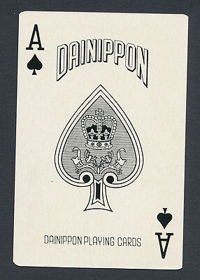 Grand Canyon Yellowstone National Park playing card single ace of spades  1 card