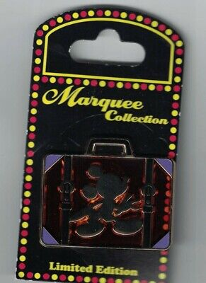 Disney WDW Marquee Collection Mickey Mouse Silhouette Luggage Suitcase LE