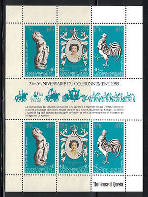 New Hebrides (French) 1978: #278 SS 25th Anniv QEII Coronation NH; Lot#7/20