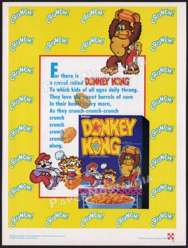 DONKEY KONG CEREAL__Original 1984 Print AD / advert / promo__Nintendo__Ralston