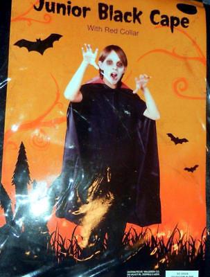 "Dracula Cape Kids (Kids SIZE 42"" BLACK CAPE MAGICIAN OR HALLOWEEN NEW! Dracula Costume Cape -New!)"