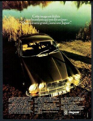 1973 Jaguar XJ6 XJ-6 car photo unusual French vintage print ad