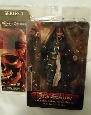 Used, Pirates of the Caribbean Dead Man's Chest Series 1 Jack Sparrow NECA Figure  for sale  Melbourne