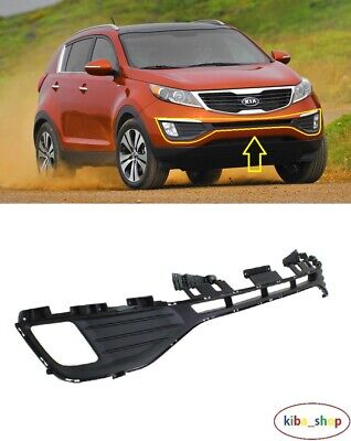 NEW KIA SPORTAGE 2010-2015 FRONT BUMPER LOWER CENTER GRILL WITH FOG LIGHT HOLES