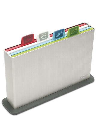 Joseph Joseph Index Chopping Board Large  Set of 4 - SILVER REGULAR