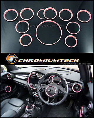 MINI Cooper/S/ONE F55 F56 F57 PINK Interior Rings Kit for model W/O NavigationXL