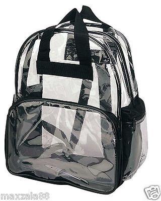 Travel Bag Clear Unisex Transparent School Security Backpack Book Bag Plastic