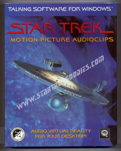 """RARE Star Trek """"Motion Picture"""" AUDIOCLIPS Win 3.5"""" Disks 1994 SEALED in BOX!"""