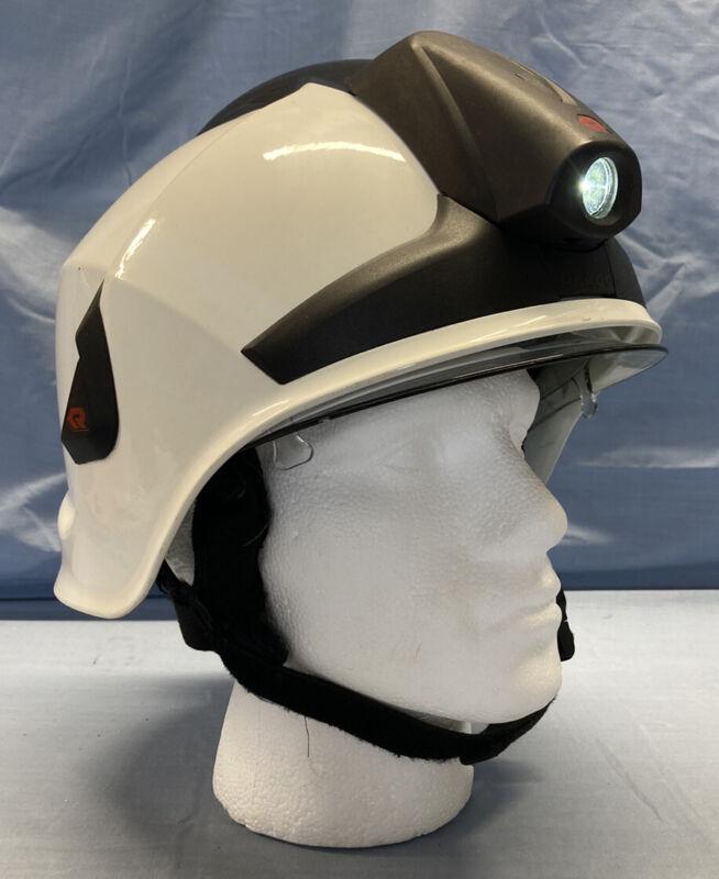 Rosenbauer Heros Xtreme Fire Helmet with Torch - Firefighter Helmet white