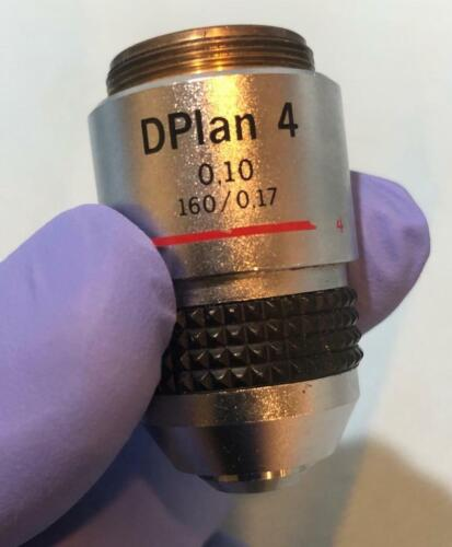 OLYMPUS DPlan D Plan 4X Microscope Objective Lens 0.10 160/0.17